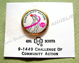NEW, COMMUNITY ACTION Challenge PIN, Cadette & Senior Girl Scout VOLUME DISCOUNT