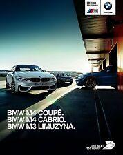 BMW M4 Coupe Cabrio M3 F30 Limousine 2016 catalogue brochure polonais