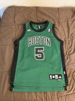 Boston Celtics Kevin Garnett Jersey Size Youth Medium 10-12 Length +2 Adidas