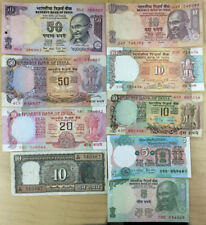 "India Banknote 9 different notes, ""The Lot of 9"""