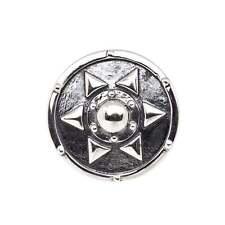 Schild mit Stern Charm Rebeligion Silber für Lederarmband Black Rock Large Men