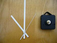 QUARTZ CLOCK MOVEMENT  SHORT SPINDLE 130MM WHITE HANDS