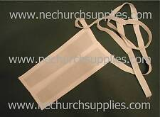 Tie Back Preaching Band Collar, Catholic Priest, Anglican Vicar, Bishop