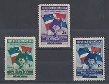 Dominican Republic Sc 326-328 MLH. 1937 National Olympics cplt VF