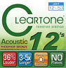 HIGH QUALITY CLEARTONE ACOUSTIC GUITAR STEEL STRING SET EXTRA LIGHT GAUGE 12-53