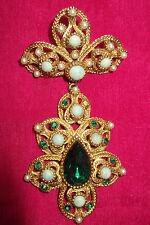 Nina Ricci Paris Couture Designer Vintage Brooch C1960's Baroque Style ~ Signed