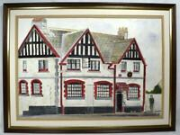 Original Irish Art Watercolour Painting Co Down Groomsport Inn Signed Dated