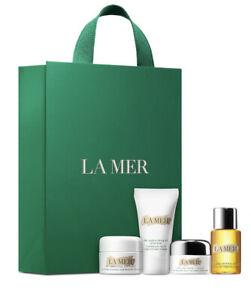 LA MER 4pc SET Moisturizing Soft Cream,Renewal Oil,Eye Balm,Replenishing Oil-NEW