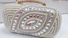 Ivory/Creamy~Handmade Pearl~New Wedding Bridal Evening Pearl Bag☆Free shipping☆