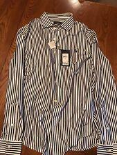 Polo Ralph Lauren Black and White Striped Knit Dress Shirt