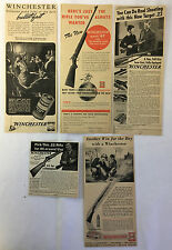 1940s WINCHESTER Rifle Ad Collection ~ Lot of 5 ads