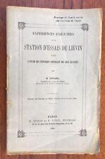 TAFFANEL 1909 EXPÉRIENCES STATION D'ESSAI DE LIÉVIN SCIENCE ET PHOTOGRAPHIE