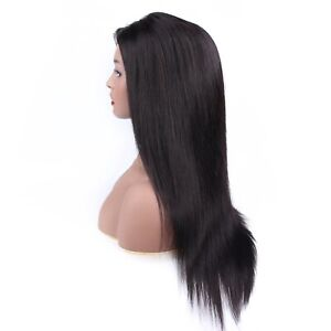 """50% Off! Pre-owned 18"""" 100% Remy Indian Human Hair Middle Part Lace Front Wig"""