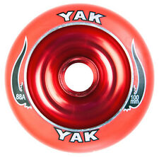 2-100mm x 88a red YAK SCAT Metalcore Scooter Wheel with bearings