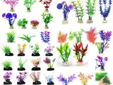 Aquarium plants fish tank aquatic plastic fake plant decor lots colours & sizes