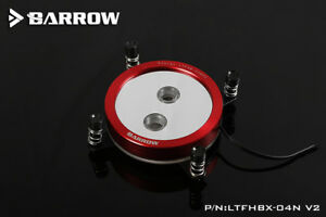 Barrow Red Intel X99 X299 Round CPU Block Infinity Mirror Illusion Effect - 382