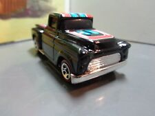 HOT WHEELS 1956 CHEVROLET TRUCK, BLACK  WITH RED LINE TIRES    1:64 SCALE  5-3-1