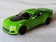 "New Kinsmart 5"" 2017 Chevrolet Camaro ZL1 Diecast Model Toy Car 1:38 Chevy-GREEN"