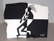 Southwest/Kokopelli Cool Mod Pop Art Flagstone Painting W/Easel By Elissa Shakal
