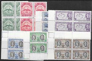 TURKS & CAICOS ISLANDS SG210/6 1948 SEPARATION SET MNH BLKS OF 4