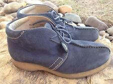 Mens Mountain Gear Boots Blue Suede 10.5 M Gum Rubber Sole chukka work play