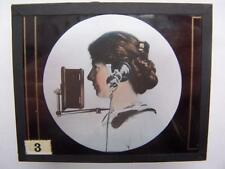 Magic Lantern Slides x 3 Telephone History Buffalo U.S.A 3.25 x 4 inch format