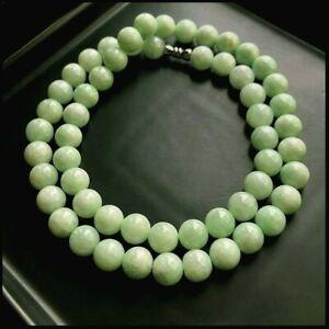 【KOOJADE】Emerald  Apple Green Jadeite Jade Beads Necklace《56》《GradeA》