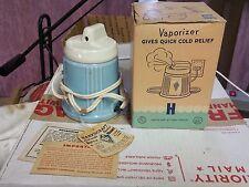 Vintage Bottle Warmer Vaporizer Hankscraft Ceramic Baby Blue Electric 1960's