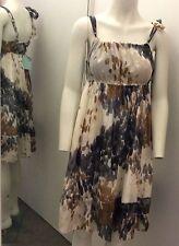 ALMOST FAMOUS 100% soie imprimé robe bnwt taille 12 rrp £ 110