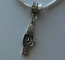 Wrist watch Fashion Time Clock Dangle Bead fits Silver European Charm Bracelets