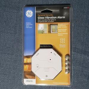 GE 45143 Glass Vibration Alarm Glass Break Detection Security Window Glass Doors