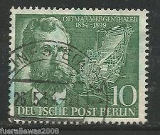 Berlin Mi. 117 100. Geburtstag Ottmar Mergenthaler Stempel von BERLIN STEGLITZ 1