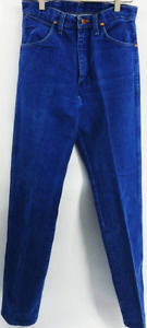 Vintage 1990s Wrangler High Waisted Retro Blue Rodeo Jeans Southwest 28x36
