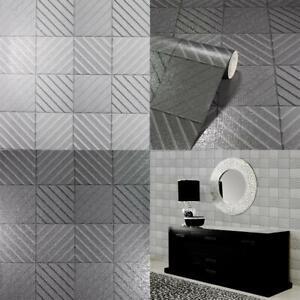 Arthouse Hotel Tile Glitter Metallic Wallpaper 2 Colours