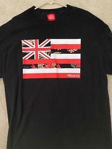 Aloha Army Hawaiian Flag XL Black T-Shirt Men's