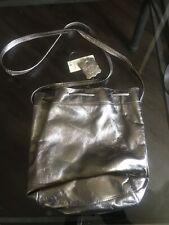 Gold Metallic Leather Handbag
