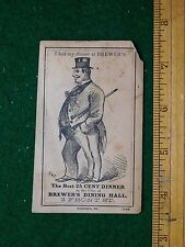 1870s-80s Brewer's Dinner Hall Fat Man in Top Hat Victorian Trade Card F23