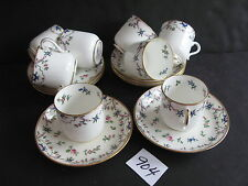 Set of 8 Minton Demitasse Cups and Saucers, Delicate Looking & Vintage