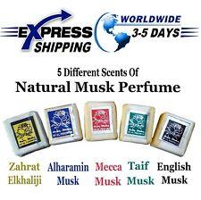 5 Scents Musk Jamid Natural Fragrance Solid Islamic Arabic Perfume Alcohol Free