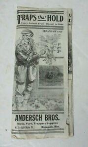 RARE 1925 Traps Brochure Anderson Bros Minneapolis MN Triumph Trap Triple Clutch