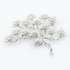 Fashion Imitation Pearl Pine Tree Brooch Pin Clothing Decoration Women Gifts