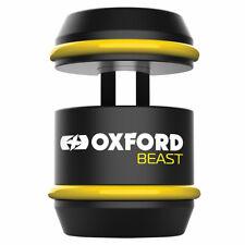 Oxford Beast Motorcycle Motorbike Lock Black / Yellow