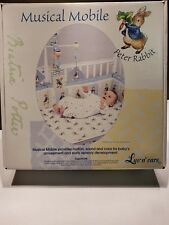 Beatrix Potter Peter Rabbit Wooden Crib Musical Mobile Baby New In Box 2001 set
