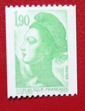 2426 roulette sans numéro neuf luxe ** liberté de Delacroix teinte vert (clair)
