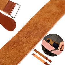 Barber Salon Leather Sharpening Strop Belt Strap Shaving Cut Throat Razor Kit DY