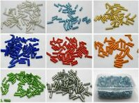 2000 Glass Tube Bugle Seed Beads 2X7mm Silver-Line+ Storage Box Color Choice