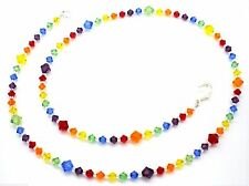 Austrian Crystal Rainbow Beaded Necklace