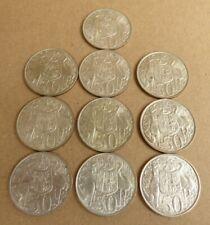 AUSTRALIAN SILVER ROUND 1966 50 CENT PIECES  10 COINS