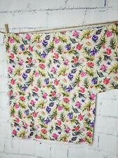 """Vintage Omega Textile Corp Floral Fabric 1-piece 58""""W x 23""""L & extra section"""