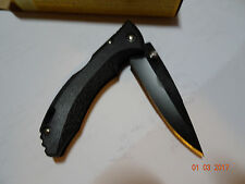 "Buck Pocket Knife 3 3/4"" Closed Black Etp Handle Black 420Hc Locking Blade 10585"